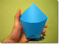 If you want a quick and easy way to make gift bags, then this simple origami design is ideal. You can make a really cute gift bag in 30 seconds.