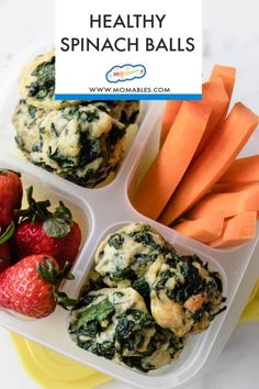 Bite-size Spinach balls are a kid favorite way to eat spinach and crowd-pleasing veggie appetizer for any gathering or dinner party. #appetizers Spinach Bites Recipe, Frozen Spinach Recipes, Healthy School Lunches, Healthy Snacks, Healthy Eating, Clean Eating, Veggie Appetizers, Party Appetizers, Spinach Health Benefits
