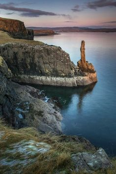 Harlosh Point, Isle of Skye Scotland Its like the rock is giving you the middle…