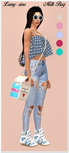Milk Box Bag at Lumy Sims • Sims 4 Updates