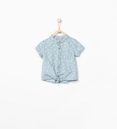 Hearts denim shirt from Zara Baby Girls