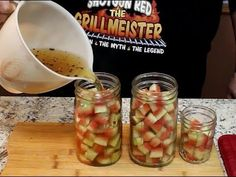 (Sweet, Spicy, and Crunchy) Pickled Watermelon Rind, Watermelon Pickles, Sweet Watermelon, Pickled Fruit, Watermelon Recipes, New Cookbooks, Curtido, Unique Recipes, Free Recipes