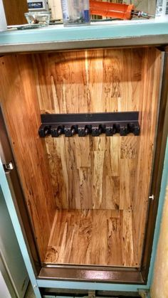 Another hidden gun safe craft storage furniture furniture storage gun storage furniture hidden gun storage furniture hidden storage furniture outdoor furniture with storage patio furniture with storage storage furniture ideas Secret Gun Storage, Hidden Gun Storage, Weapon Storage, Gun Safe Diy, Hidden Gun Safe, Airsoft, Armoire, Vintage Fridge, Window Seat Storage