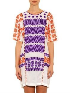 Figue Embellished and embroidered dress
