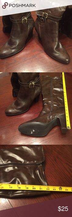 """Avenue brown boots with 4"""" heel Size 12w boots only wore a couple times. Great addition to you fall wardrobe! Avenue Shoes Heeled Boots"""
