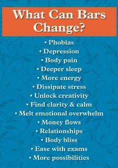 As Barras de Access pode mudar fobias,depressão,dor no corpo,dormir melhor,mais energia,remover estresse,criatividade,clareza e muita mais!