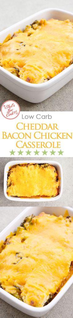 Low Carb Recipes | Cheddar Broccoli Chicken Casserole | Low Carb Casseroles | Casserole Recipes ~ https://www.thatslowcarb.com