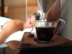 The Barisieur is an alarm clock that wakes you up with a full, bespoke cup of coffee or tea right by your bedside with its neat, all-in-one device.