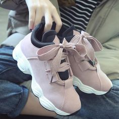 62ce5dfb9b043 $18.96 Women Platform Soft Warm Casual Shoes Girls Sneakers, Bow Sneakers,  New Trainers,
