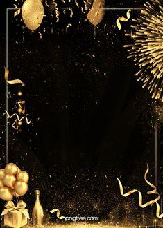 Fireworks Background, Balloon Background, Invitation Background, Party Background, Birthday Background, Gold And Black Background, Black Background Wallpaper, Textured Background, Birthday Frames