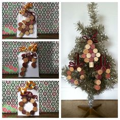 DIY wine cork Christmas ornaments. Also made as a gift for co-workers and family friends. Super easy and cost friendly. Photo/created by: Ericka So