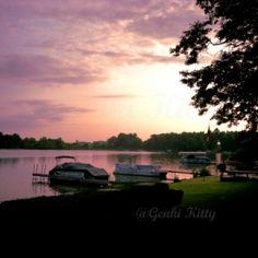 Sunrise in Michigan in Summer 2014.  #puremichigan #michigan #genkikitty #sunrise