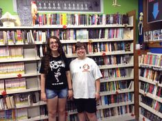 Sister volunteer team Amanda & Alexis getting the Teen Room ready for October today!