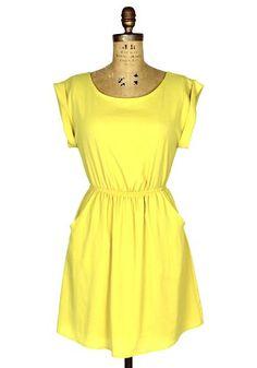 Little Miss Sunshine Dress: Yellow