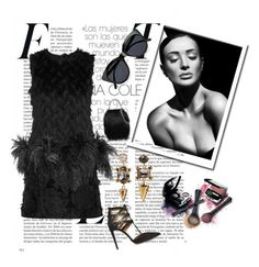 """""""Untitled #1965"""" by swc0509 ❤ liked on Polyvore featuring Lanvin, Aquazzura, STELLA McCARTNEY, Avon, Elizabeth Cole and Le Specs"""