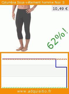 Columbia Sous-vêtement homme Noir S (Sports Apparel). Réduction de 62%! Prix actuel 10,49 €, l'ancien prix était de 27,97 €. http://www.adquisitio.fr/columbia/v%C3%AAtement-homme-noir-s