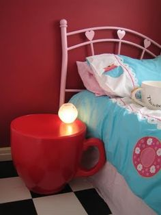 Cup Stool (Red) used in a child's 'Alice in Wonderland' themed room300 x 400 | 14.9 KB | hollypalmeronline.blogspot....