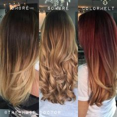 "One of MODERN's favorite artist, Gina Bianca (@The_Hair_Doctor) is regularly asked ""What is the difference when comparing Ombre, Sombre and Colormelt?"" When Bianca mentioned she was working on a story to better explain the three looks, we asked to share with YOU! Here is the wonderful result:"