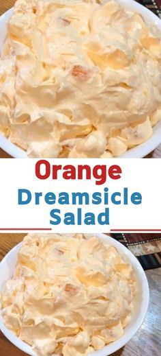 Ingredients: 1 box orange Jell-O 1 box instant vanilla pudding 1 cup boiling water cup cold water 1 Cool Whip 8 oz. 1 can mandarin oranges 14 oz. , drained 1 cup mini marshmallows Instructions: In a large bowl combine orange Jell-O and - theideas Fluff Desserts, Jello Desserts, Dessert Salads, Jello Recipes, Fruit Salad Recipes, Creamy Fruit Salads, Pudding Fruit Salads, Easy Fruit Salad, Cool Whip Desserts