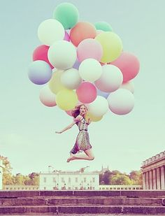Chanel Advertisement with weather balloons