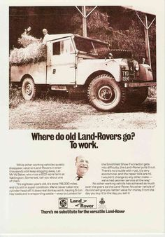 Landrover Land Rover Series 1 107 inch Somerset Farm collectable motor postcard