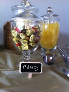 """""""I DO"""" Sweets Table customized for s'mores, red velvet cup cakes, lemon cake pops, chocolate covered pretzels, and vintage candy i.e. Mary Jane's, lemon drops. http://www.pinterest.com/itsfiveoclock/boards/"""