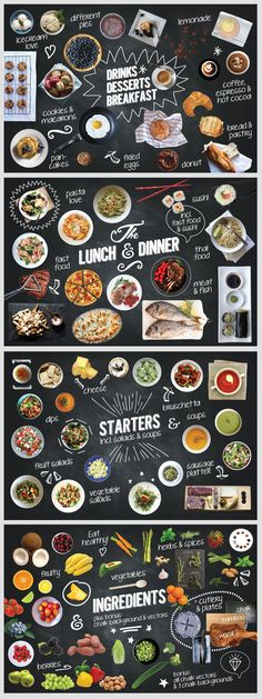 150 Isolated Food Chalk Kit by wpthemes on deviantART