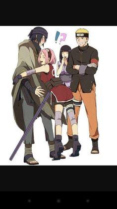 Naruto Uzumaki Shippuden, Naruto Kakashi, Art Naruto, Sasuke Vs, Sasusaku Doujinshi, Sasuke Uchiha Sakura Haruno, Manga Naruto, Naruto Teams, Naruto Comic