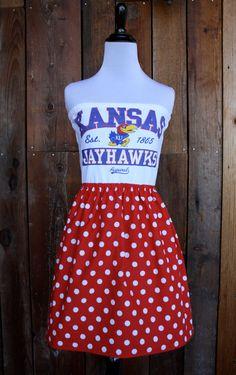 University of Kansas KU Jayhawks Game Day by jillbenimble on Etsy