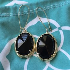 Kendra Scott Jane earrings -Glam Rocks collection Beautiful black and gold dangles. Rarely worn. Kendra Scott Jewelry Earrings
