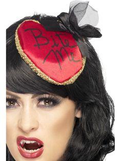 8cb07b0cd1d Womens Ladies Halloween Hat Bite Me Fascinator