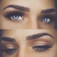 Brows and liner using #Dipbrow in Dark Brown #anastasiabrows