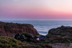 Sleeping on the beach cliffs. San Quintin, Baja California, Mexico. March 2013. Photo by Greg Clarke