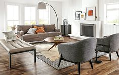Ravella Leather Benches. Contemporary Living RoomsModern Living Room ...