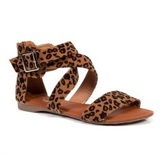 Leopard sandals... OMG I WOULD WEAR THESE WITH EVERYTHING!