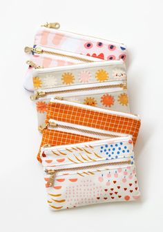 Wallet Sewing Pattern, Coin Purse Pattern, Purse Patterns Free, Wallet Pattern, Bag Patterns To Sew, Tote Pattern, Sewing Patterns, Modern Sewing Projects, Zipper Pouch Tutorial