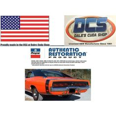 1969 Dodge Charger R/T 3pc Rear Gloss Black Tape Stripe Kit NEW MoPar USA Listing in the Mouldings & Trim,Exterior,Cars Parts & Accessories,Parts & Accessories,Cars & Vehicles Category on eBid United States | 161274310