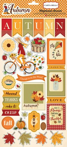 Carta+Bella+Paper+-+Autumn+Collection+-+Chipboard+Stickers+at+Scrapbook.com