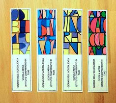 Special bookmarks to welcoming the new pupils at school Lesezeichen