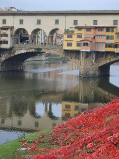 Ponte Vecchio.  Autumn.  The best place to stroll with gelato in hand..