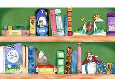 O cão que comeu o livro...: A estante ilustrada por Emily Golden / Bookshelves illustrated by Emily Golden