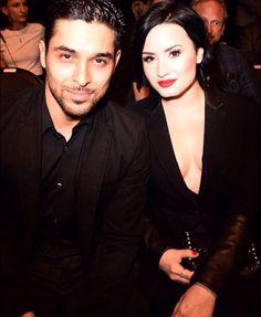 Demi Lovato with Wilmer at the UFC 184 Staples Center, LA February 28th