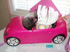 barbie cars barbie car utensils and napkins Barbie Party Decorations, Barbie Theme Party, Barbie Birthday Party, 5th Birthday Party Ideas, Fourth Birthday, Girl Birthday, Birthday Decorations, Vintage Barbie Party, Barbie Cars