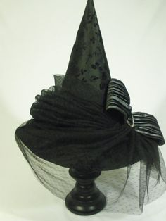 Couture Witch Hat Roxanne Size 22 One of a by EvercrumblyAndWitch