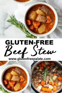 Easy gluten free beef stew that is quick to make, filling, and full of comforting flavors. We like to make this beef stew in the instant pot but I've included instructions for stove top gluten free beef stew and beef stew in a Crockpot. Gluten Free Stew Recipe, Crockpot Dairy Free, Fall Crockpot Recipes, Gluten Free Soup, Dairy Free Diet, Dairy Free Recipes, Gluten Free Recipes Crock Pot, Crockpot Meals, Stew Chicken Recipe