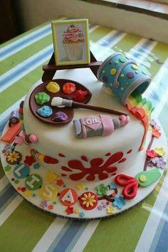 Schilderij taart