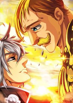 Estarossa & Escanor (The Seven Deadly Sins) Otaku Anime, Anime Echii, Anime Art, Escanor Seven Deadly Sins, Meliodas Vs, Fairy Tail, Manga Japan, Seven Deady Sins, Hisoka