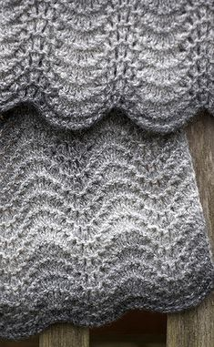 Hand Knitted Ripple Lace Scarf | Flickr - Photo Sharing!