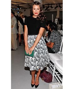 Lea was a class act at the Jason Wu Spring 2012 Fashion Show, surprising many in this lovely ladylike ensemble.