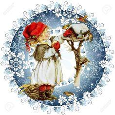 Фотография Images Vintage, Vintage Christmas Images, Christmas Pictures, Christmas Decoupage, Christmas Crafts, Christmas Decorations, Christmas Ornaments, Illustration Noel, Christmas Illustration